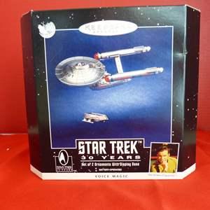 Lot # 159  Star Trek 50 anniversary ornaments (NEW)