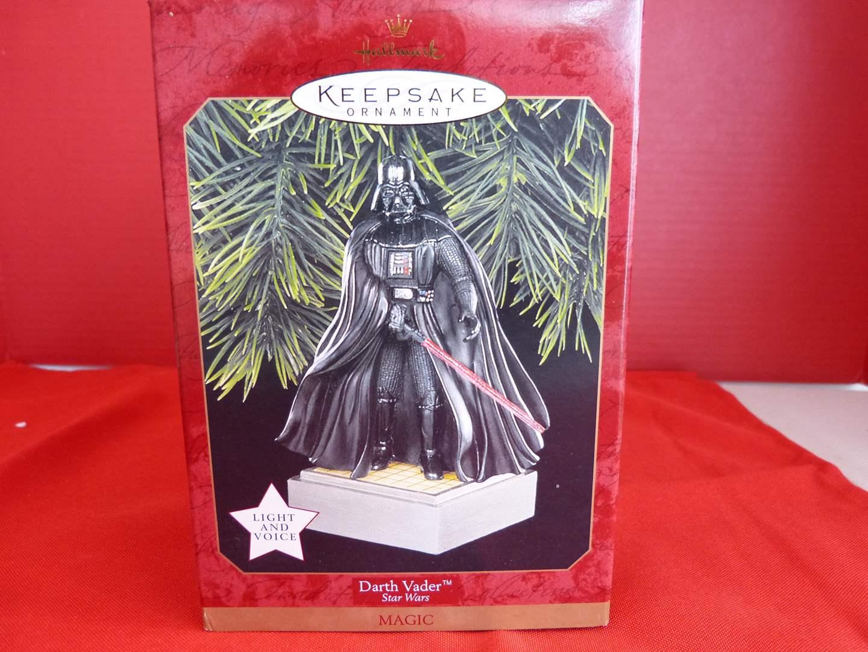 """Lot # 160  Hallmark Keepsake  Star Wars """"Darth Vader"""" ornament (new) (main image)"""