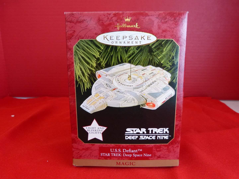 """Lot # 161  Hallmark Keepsake """"U.S.S. Defiant"""" NEW ornament Star Trek ornament (main image)"""
