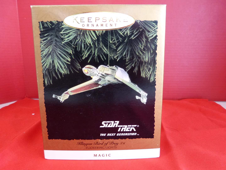 "Lot # 162  Hallmark Keepsake ""Klingon Bird of Pray"" Star Trek ornament  (main image)"