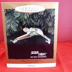 """Lot # 162  Hallmark Keepsake """"Klingon Bird of Pray"""" Star Trek ornament"""