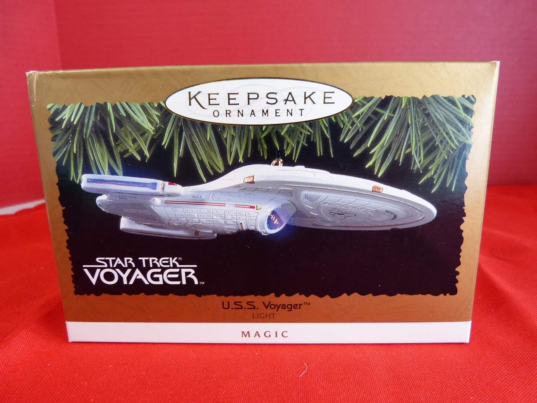 Lot # 165  Hallmark Keepsake U.S.S. Voyager Star Trek ornament (main image)