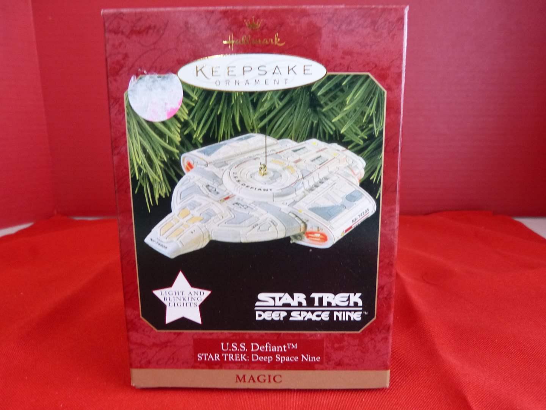 Lot # 166  Hallmark Keepsake Star Trek U.S.S. Defiant ornament NEW (main image)