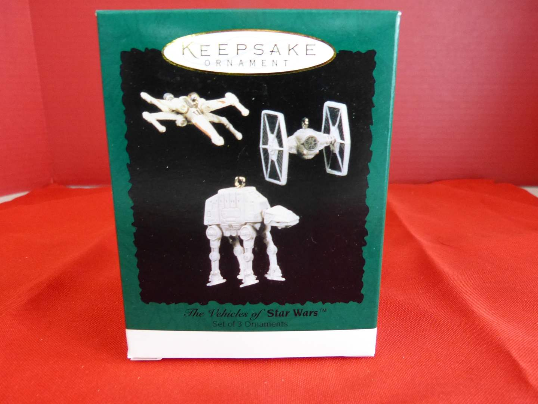 Lot # 167  Hallmark Keepsake Star Wars miniature ornaments NEW