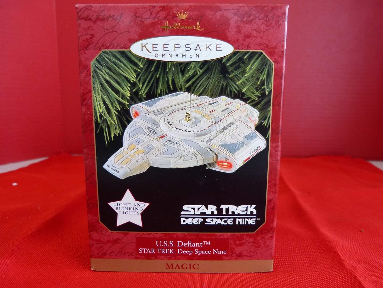 Lot # 171  Hallmark Keepsake Star Trek U.S.S. Defiant Ornament (main image)