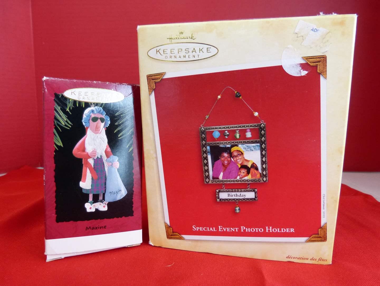 Lot # 174  Hallmark Keepsake ornaments to include photo holder (main image)