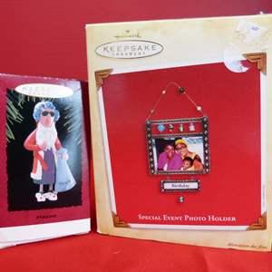 Lot # 174  Hallmark Keepsake ornaments to include photo holder