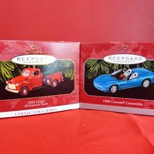 Lot # 175  Hallmark Keepsake 2 great car ornaments