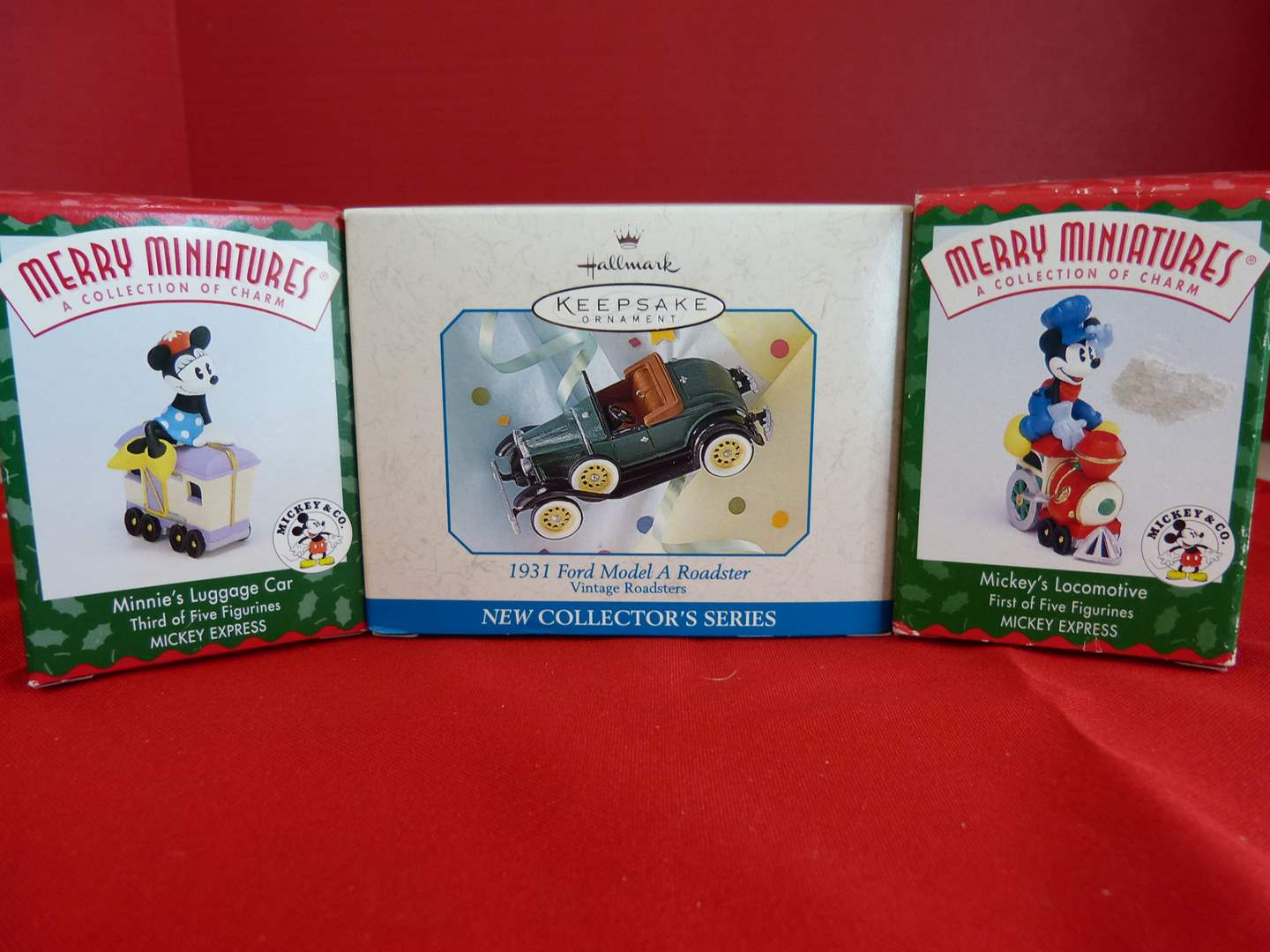 Lot # 177  3 collectible ornaments to include 2 Miniature Disney (main image)