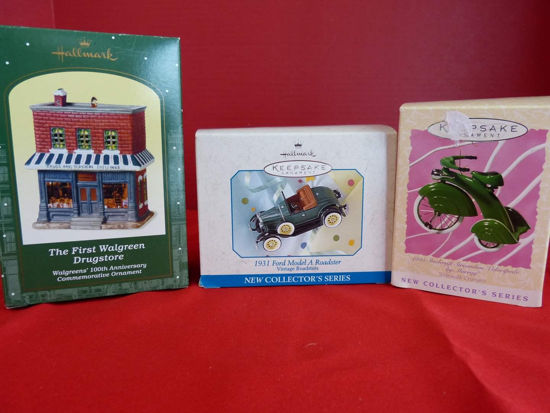 Lot # 179  Hallmark Keepsake 3 collectible ornaments  (main image)