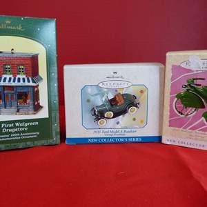 Lot # 179  Hallmark Keepsake 3 collectible ornaments