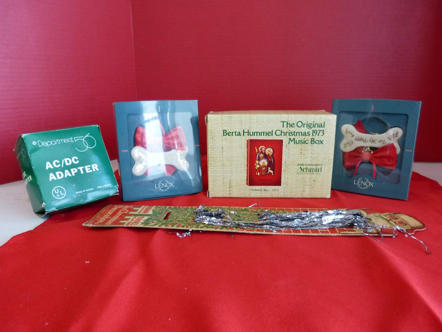 Lot # 181  Nice lot of collectibles to include 2 Lenox pet ornaments