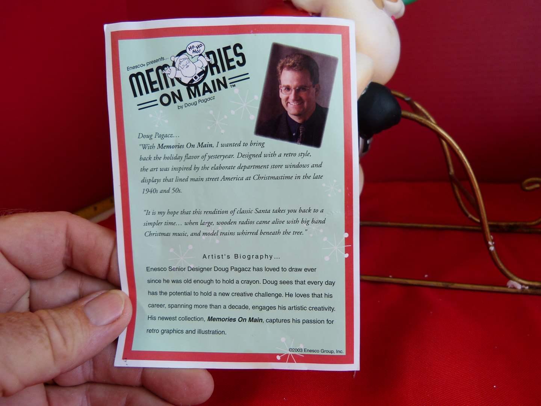 Lot # 192  Memories on Main Santa on sled (main image)