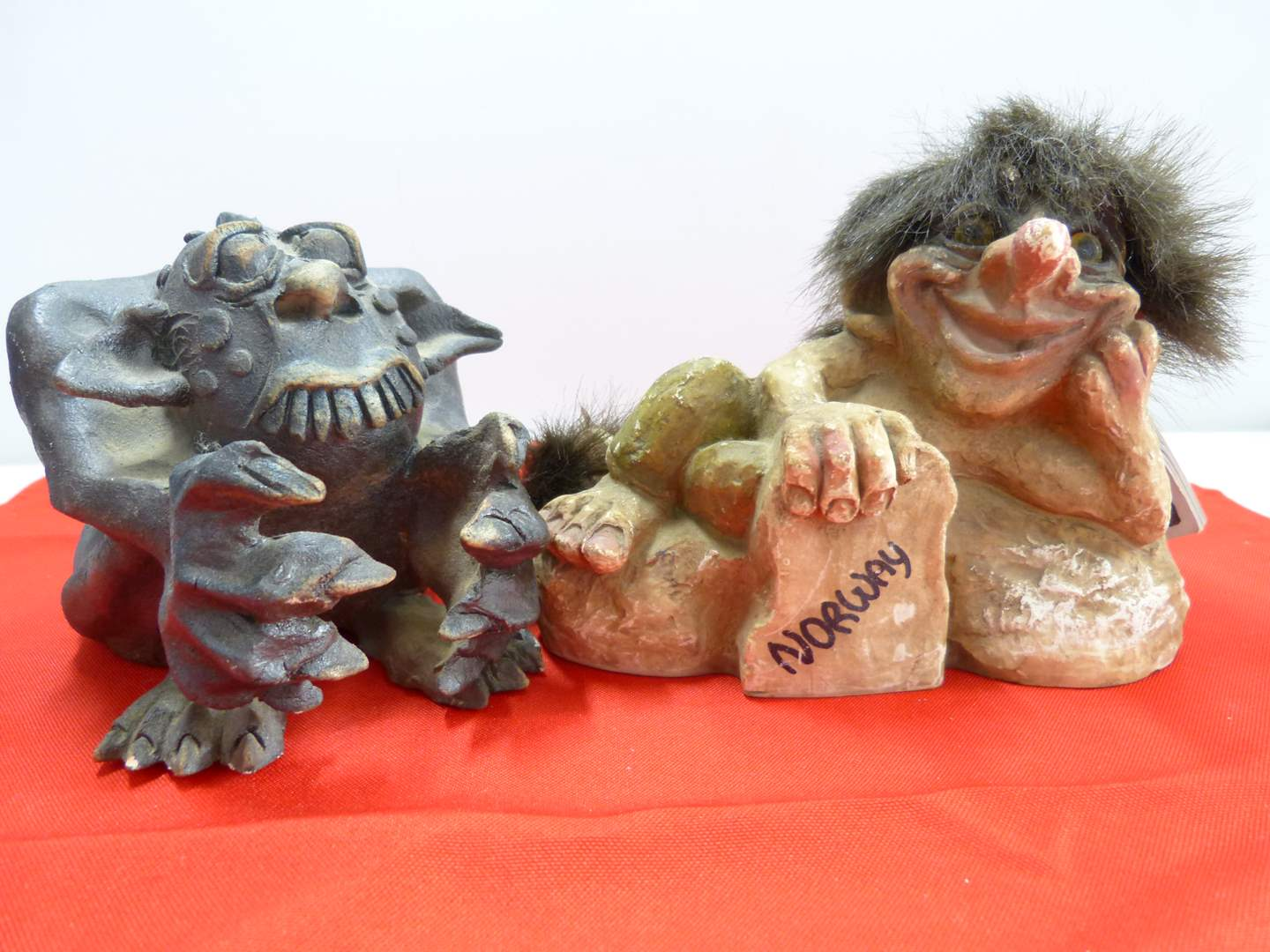 Lot # 218  2 collectible trolls (main image)