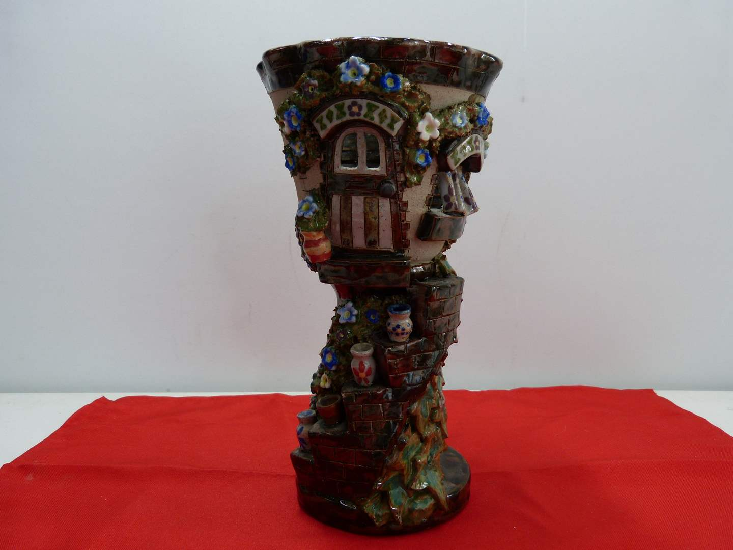 Lot # 223  Great heavy whimsical chalice   (main image)