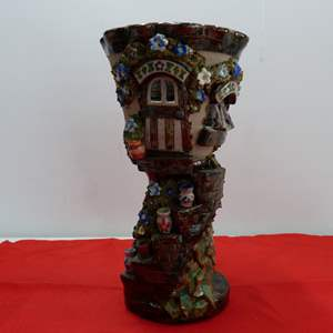 Lot # 223  Great heavy whimsical chalice