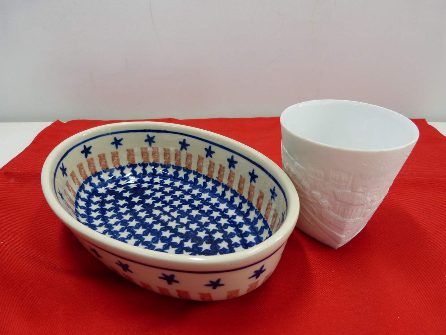 Lot # 224  2 great collectibles to include oval Made in Poland casserole