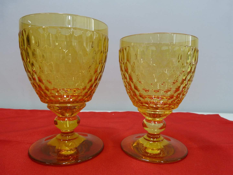 Lot # 243  2 Villroy & Bock amber tumblers NEW (main image)