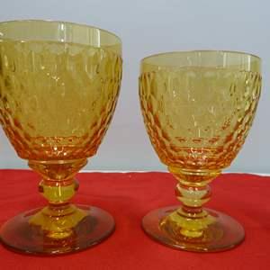 Lot # 243  2 Villroy & Bock amber tumblers NEW