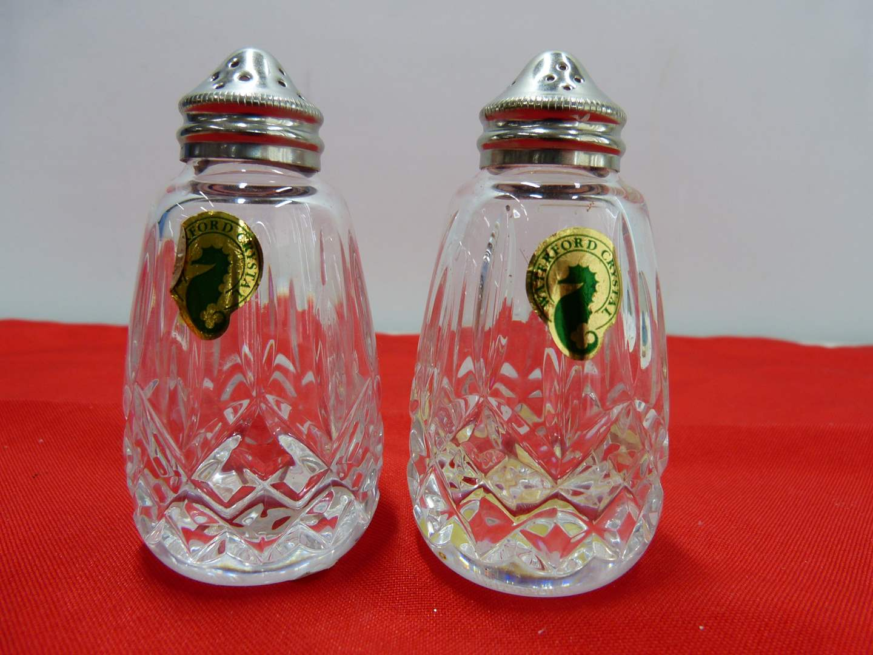 Lot # 252  Pair Waterford NEW salt & pepper shakers (main image)