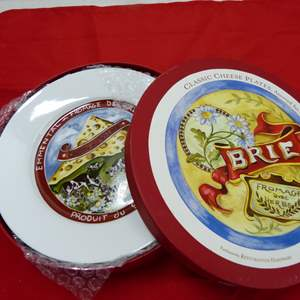 Lot # 254  4 New in box Brie Cheese snack plates by Restoration