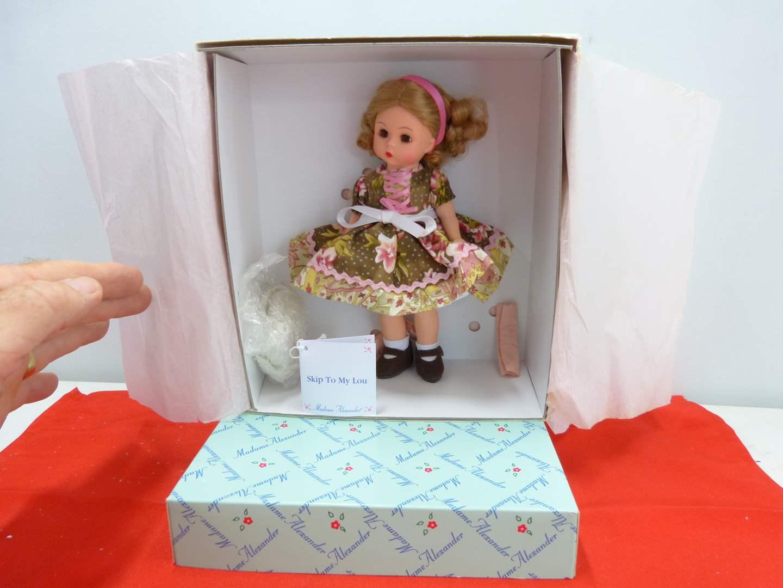 "Lot # 259  Vintage NEW Madame Alexander Doll ""Skip to my Lou"""