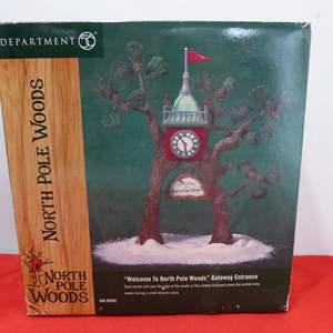 Lot # 266  Great Dept 56 Tree North Pole Woods