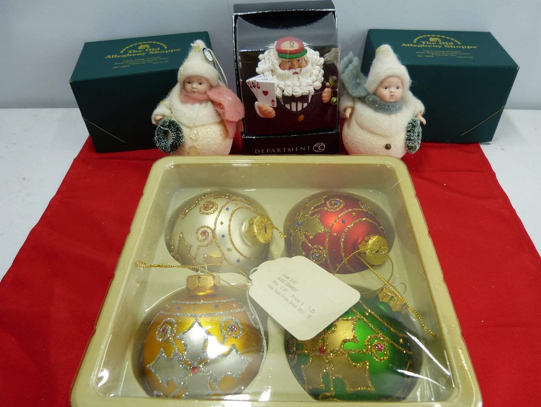 Lot # 268  Nice lot of Christmas ornaments including vintage bulbs