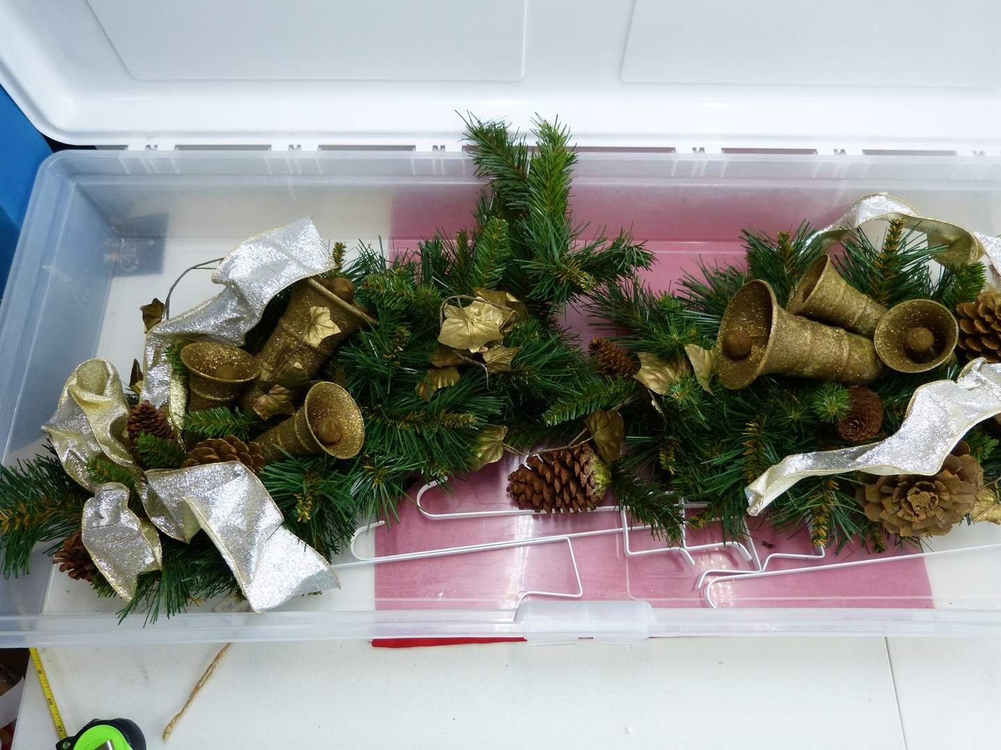 Lot # 269  2 large holiday door wreaths (like new condition) (main image)