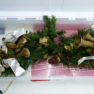 Lot # 269  2 large holiday door wreaths (like new condition)