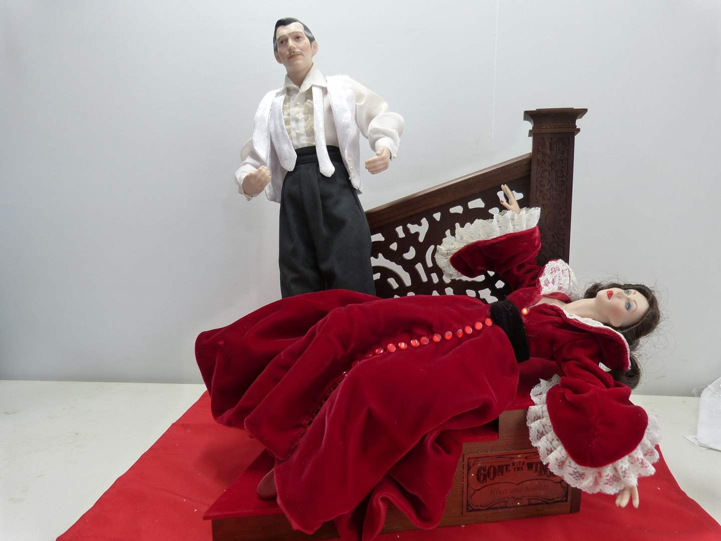 """Lot # 271  Gone with the Wind Dolls to include Scarlett & Rhett """"Night of Passion""""   (main image)"""