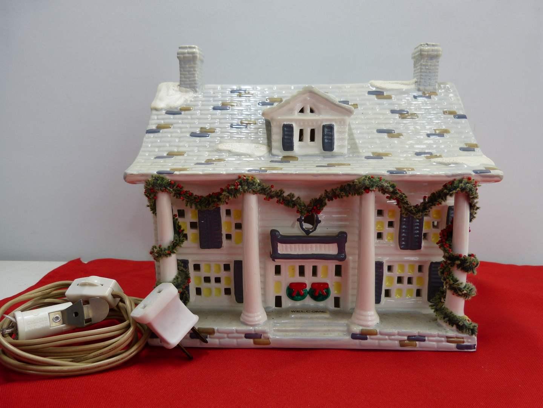 "Lot # 272  Dept 56 ""Cumberland House"" w/Light (main image)"