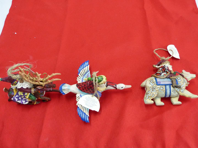 Lot # 275  Great Jim Shore Tree ornaments (boxed like new) (main image)