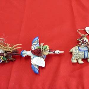 Lot # 275  Great Jim Shore Tree ornaments (boxed like new)