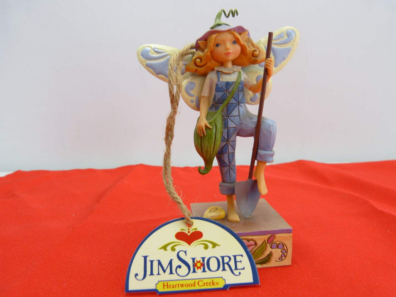 "Lot # 277  Jim Shore ""Something's Gotta Grow"" Gardening Fairy a/box"