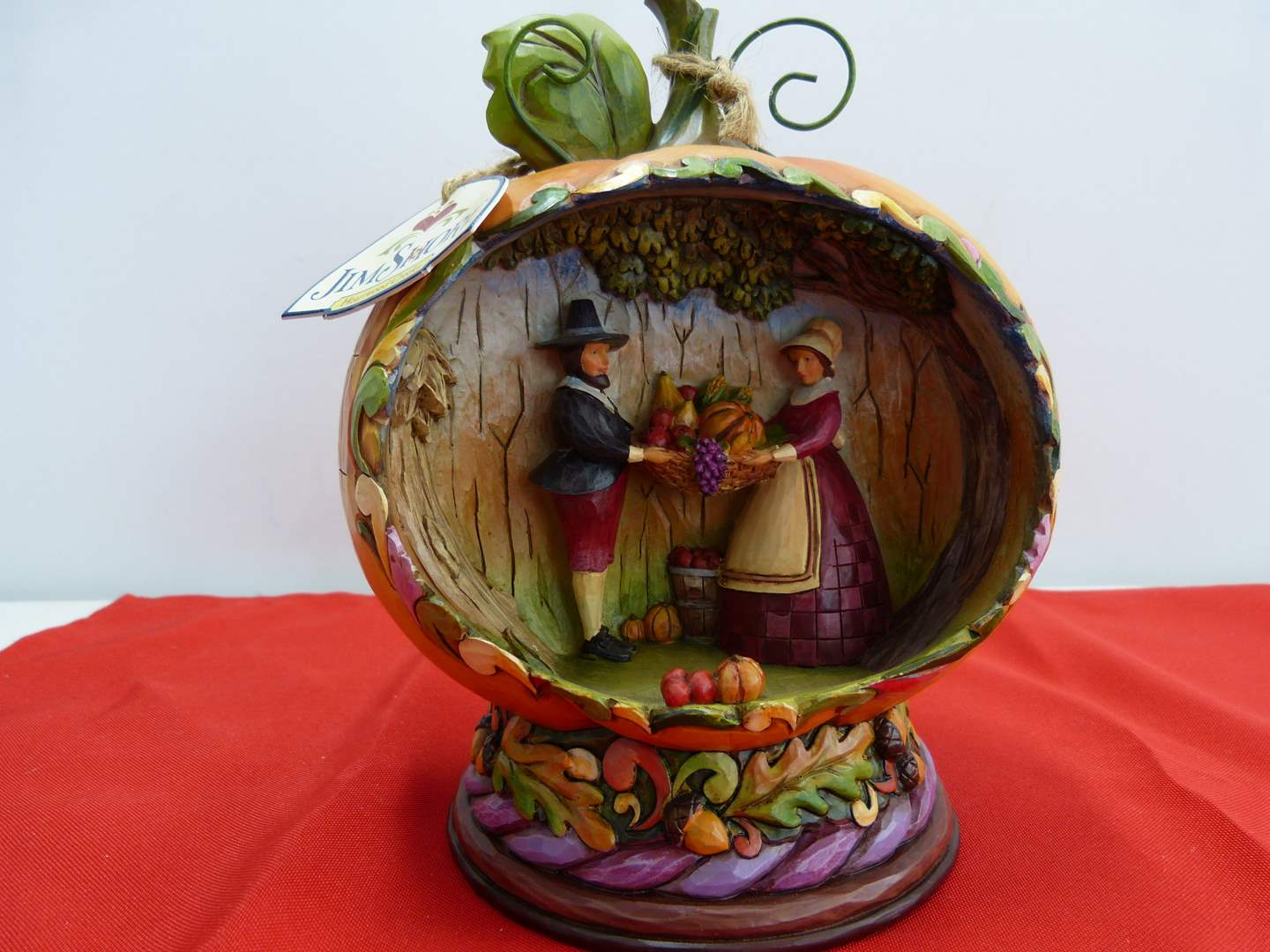 """Lot # 280  Jim Shore """"Blessings of the Harvest"""" w/box (lights up-untested but guaranteed) (main image)"""