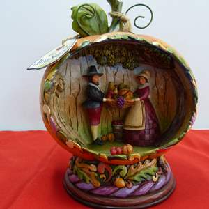 """Lot # 280  Jim Shore """"Blessings of the Harvest"""" w/box (lights up-untested but guaranteed)"""