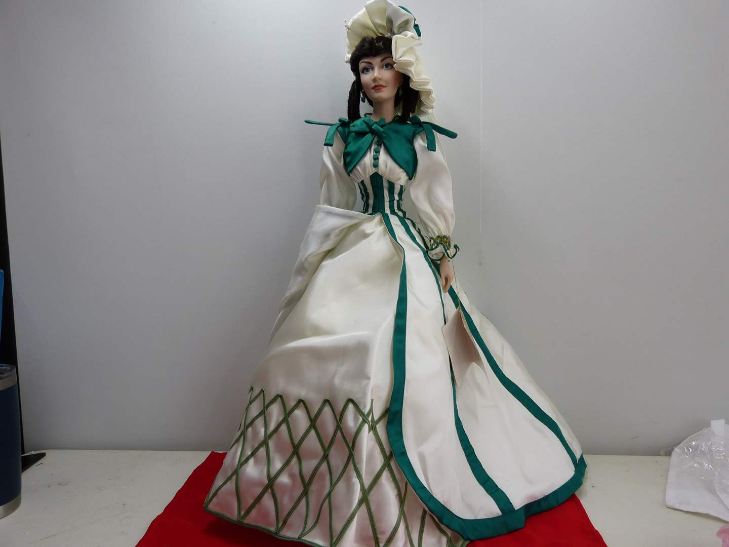 """Lot # 282  Franklin mint doll """"Gone With the Wind""""  (main image)"""