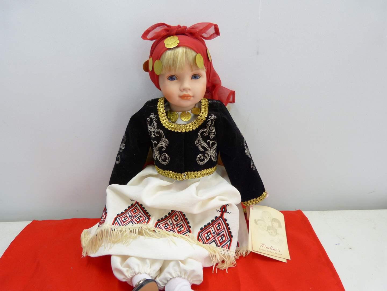 Lot # 286  Cut doll by Pauline w/native dress