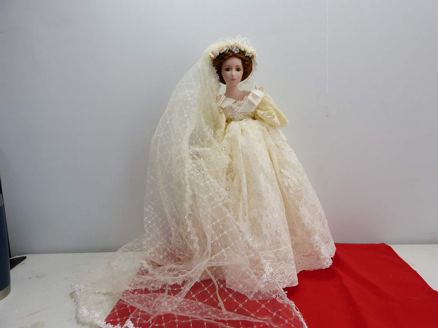 Lot # 289  Large bride doll by Seymour (had a broken shoe) (main image)