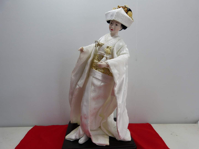 Lot # 291  Beautiful Asian Doll Geisha (GREAT clothing)