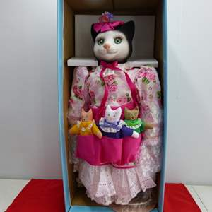 Lot # 297  LARGE Betty Jane Carter Cat Doll MINT condition