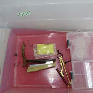 Lot # 303  Lot of fishing tackle trays