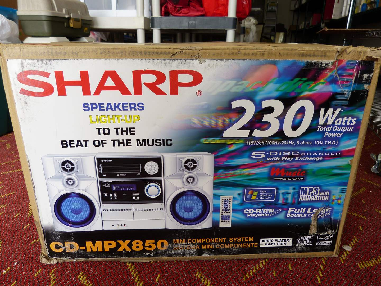 Lot # 305  WOW SHARP stereo NEW never opened CD-MPX850 system (main image)