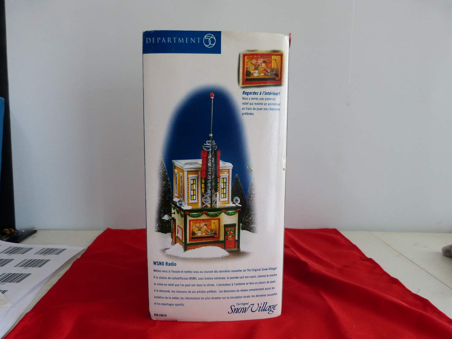"""Lot # 123  Dept 56 GREAT """"WSNO Radio"""" Building with light & box (main image)"""