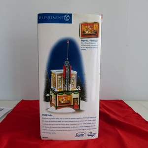 """Lot # 123  Dept 56 GREAT """"WSNO Radio"""" Building with light & box"""