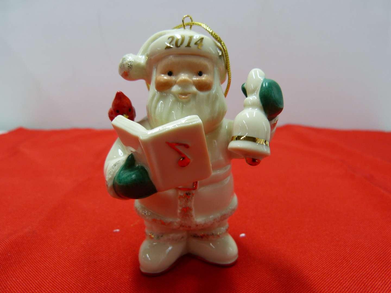 Lot # 101  Great Lenox Christmas Ornament (original box)