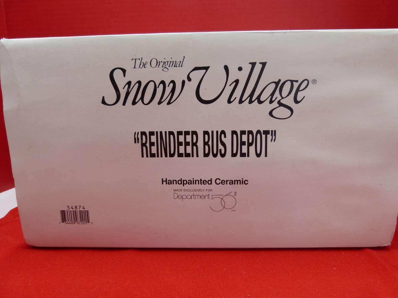 "Lot # 121  Dept 56 Snow Village ""Reindeer Bus Depot"" great condition (no light)"