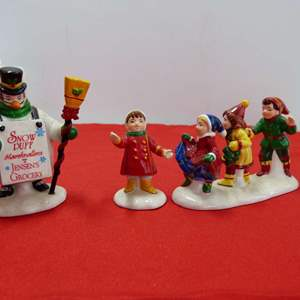 """Lot # 258  2 Dept 56 accessory """"He Led Them Down to Town & Just Married"""