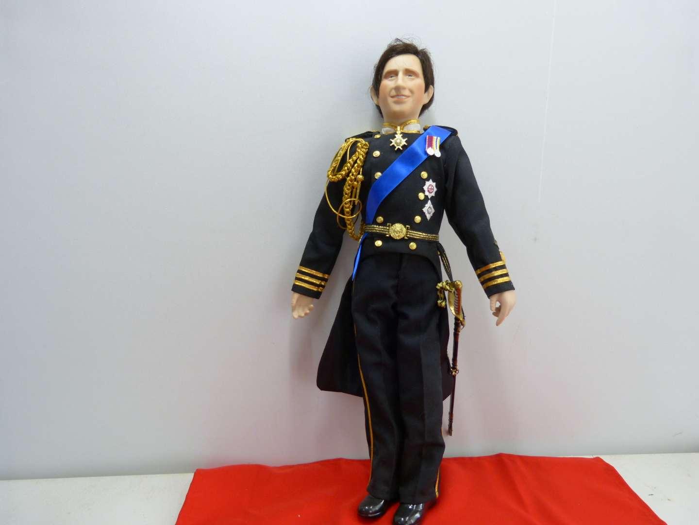 Lot # 284  Prince Charles Doll by Danbury Mint